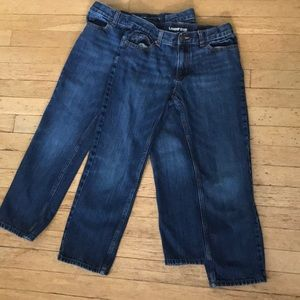 Lot of 2 dark wash Land's End jeans (classic fit)